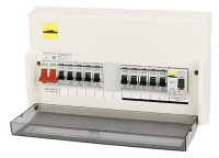 johnson electrical a new modern consumer unit like the one below circuit breakers instead of fuses and an rcd trip to disconnect the supply in the case of a fault
